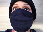 Masque tissu catégorie 1 bleu marine
